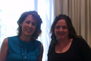 Me and Kelley Armstrong.  Notice I was carefully keeping space between us so as not to be a creepy stalker type.