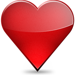 favourite icon (red love heart)