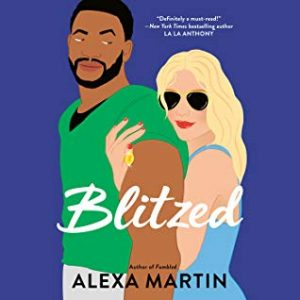 Illustrated cover of a built and bearded Black man in profile with a blonde white woman hugging him from behind.