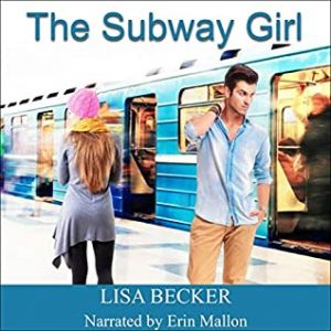 a white guy is standing by a subway train, a white girl in a pink woollen hat is walking away from him