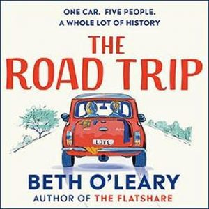 illustrated cover of a red mini driving along a roadway